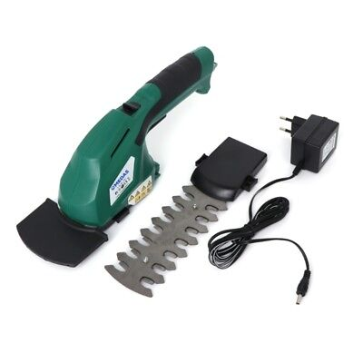 2 In 1 Garden Cordless Grass Shear Hedge Trimmer Hand Held Mower Lawn Tool 3.6V