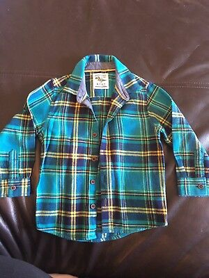 Next Boys Checked Shirt 1.5-2 Years 18-24 Worn Once
