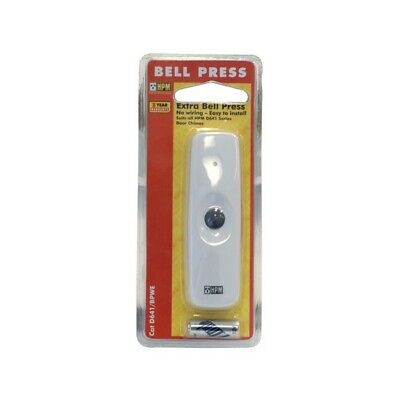 Hpm Wireless Bell Press For D641 White Weather Proof 30Mt Range D641/bpwe