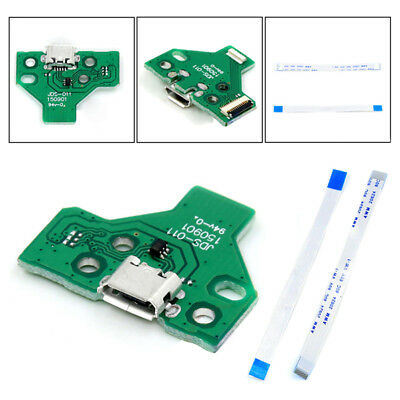 USB Charging Port Socket Board JDS011 for SONY PS4 Controller with 12 pin Cable
