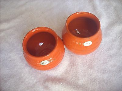 Florenz Orange Vases X 2