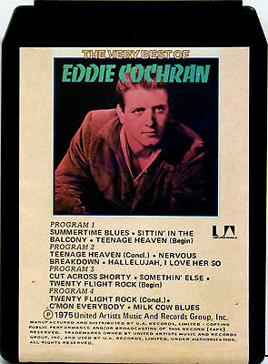 EDDIE COCHRAN The Very Best Of  8 TRACK TAPE  CARTRIDGE