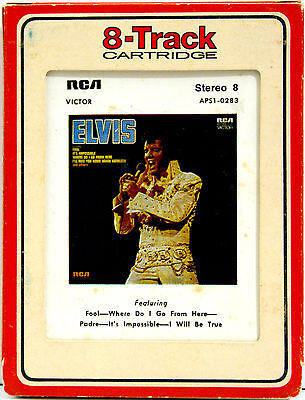 ELVIS PRESLEY Elvis  8 TRACK TAPE  CARTRIDGE