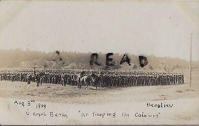 Soldier Group 4th Royal Berkshire Regiment Trooping the Colour Bealieu 1909