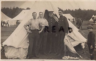 Soldier group in tented camp Household Cavalry in Patrol Dress Windsor ?