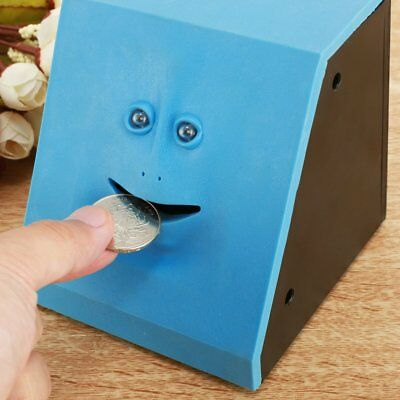 Hot Funny Facebank Face Piggy Bank Sensor Coin Eating Saving Money Box Kids Gift