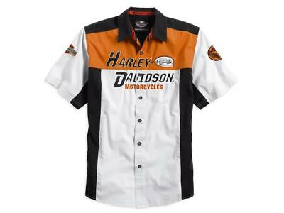Harley Davidson Colour Block Garage Shirt Rrp £70 (96673-14Vm)