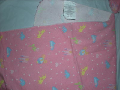 disney PRINCESS PINK RECEIVING BLANKET 3 SET CASTLE