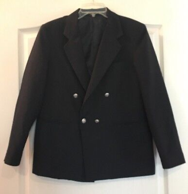 Class Club Boys Black Blazer Suit Coat Sz 16 Regular