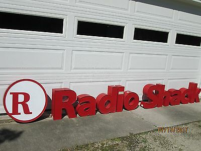 Radio Shack  Channel Light-Up Letters & Radio Shack Logo Sign 11 Pieces In All