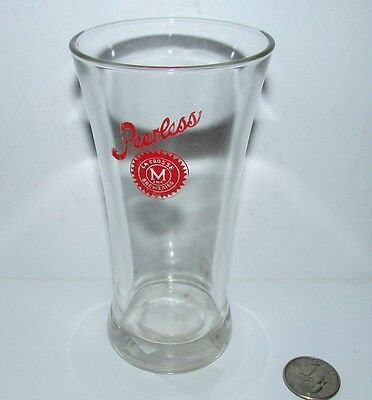 PEERLESS beer 1930's red sun logo FLARED shell glass LACROSSE, WISCONSIN