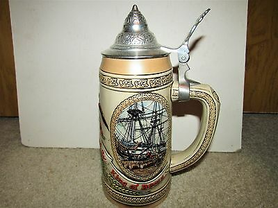 BUDWEISER 1987 history of brewing 111 LIDDED STEIN IN BOX limited edition CS71