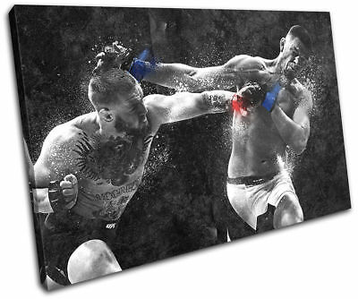 Conor Mcgregor Nate Diaz UFC MMA Print Pictures Canvas Wall Art Prints Unframed