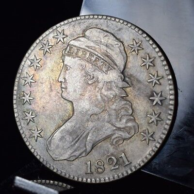 1821 Capped Bust Half Dollar - VF Detail!