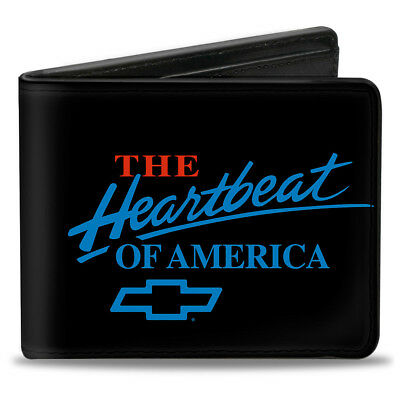 Bi-Fold Wallet Chevy Bowtie/The Heartbeat Of America Black/White/Red/Blue