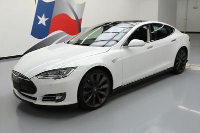 2013 Tesla Model S  2013 TESLA MODEL S TECH PANO SUNROOF NAV 21'S 24K MILES #P25317 Texas Direct