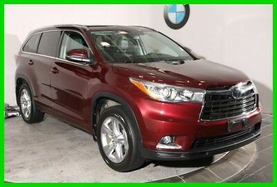 2015 Toyota Highlander Limited NAVIGATION SYSTEM REAR-VIEW CAMERA PANORAM 2015 Toyota Highlander Red SUV AWD