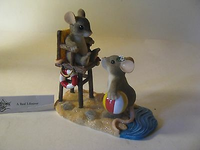 Charming Tail A Real Lifesaver Mouse Beach Figurine