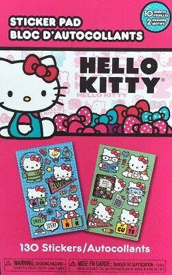 Hello Kitty Sticker Pad**New 130 Stickers 10 Sheets Free Shipping
