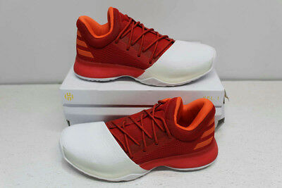 Adidas Boys' Size 6 Harden Vol. 1 Basketball Shoes - Scarlet / White BY3483