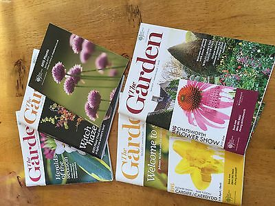 4 x The Garden Magazine  Royal Horticultural Society RHS Jan-April 2017