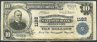 United States 1902 Series $10 Nat'l Curn  Yunion Trust & Hudson Cty Jersey City-