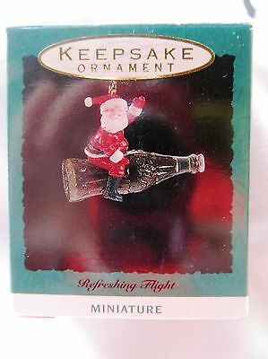 1992 Hallmark Miniature Christmas Ornament COCO COLA REFRESHING FLIGHT