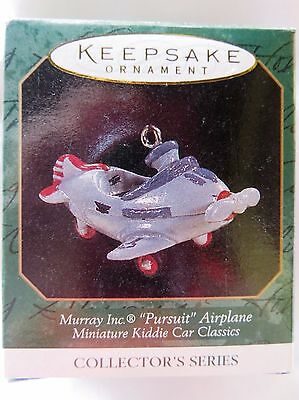 1997 Hallmark Miniature Christmas Ornament MURRAY INC. PURSUIT AIRPLANE KIDDIE