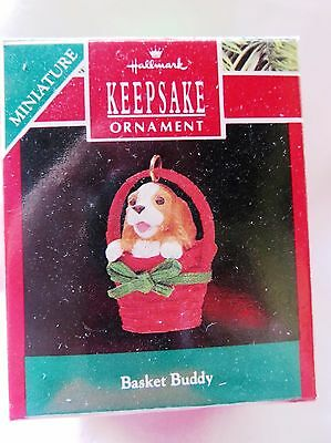 Hallmark Miniature Christmas Ornament BASKET BUDDY