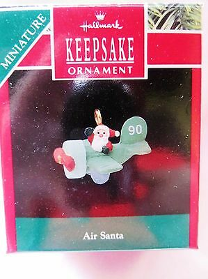 1990 Hallmark Keppsake Miniature Christmas Ornament AIR SANTA
