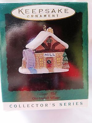 1996 Hallmark Miniature Christmas Ornament OLD ENGLISH VILLAGE, VILLAGE MILL  #9