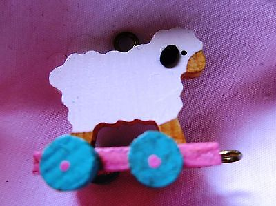 1988 Hallmark Keepsake Miniature Christmas Ornament FOLK ART LAMB