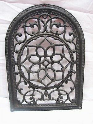 Arch Top Cast Iron Wall Ornate Register Heat Grate Vent Grille Architectural M