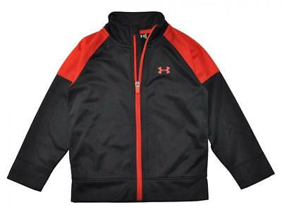 Under Armour Toddler Boys Black & Red Track Jacket Size 3T