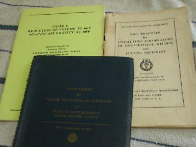 Petroleum Tanks and Gas welding booklets