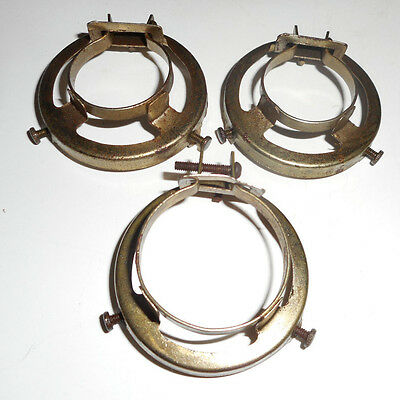 """3 vintage clamp on shade holders 2 1/4"""""""
