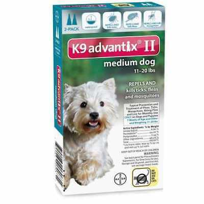 2 MONTH K9 Advantix II TEAL for Medium Dogs 1120 lbs