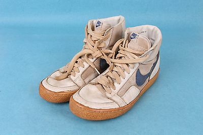 Vintage 1981 Nike Dynasty Hi-Top Mens Leather/mesh Basketball Shoes Sz 9.5