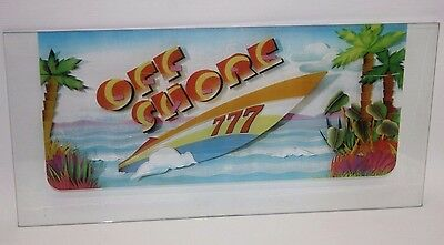 Vintage Casino Game Glass Off Shore 777 Collectible Gaming **must See**