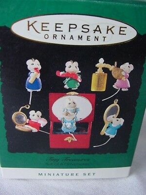 Box Only ~ Hallmark Tiny Treasures Miniature Set Of 6 Ornaments ~ Box Only