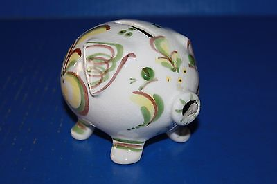 Cute Vintage Hand Painted Ceramic Piggy Bank