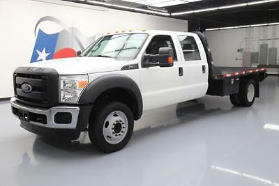 2014 FORD F-550 XL CREW DIESEL DUALLY FLATBED 6PASS 39K #B48357 Texas Direct