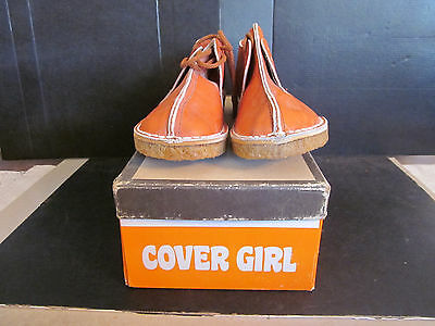 NOS Cover Girl Ladies Leather Shoes w Crepe Rubber Soles Size 6.5 M Not Seconds