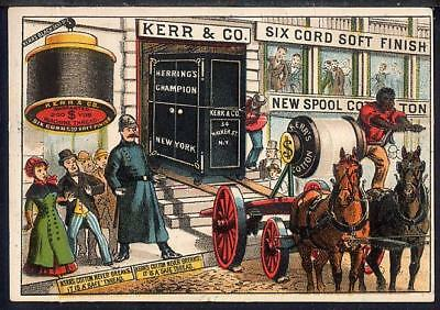 KERR THREAD Trade Card Black Teamster HERRING SAFE Delivered to Kerr Company