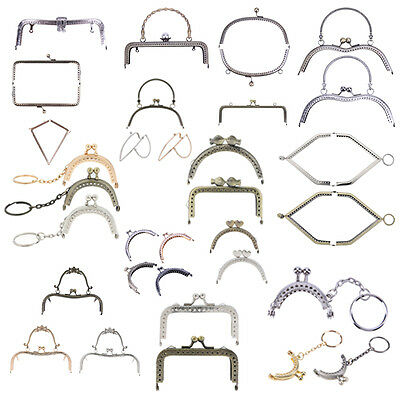 Vintage Metal Frame Kiss Clasp Lock Arch For Lady Sewing Handbag Purse Coins Bag