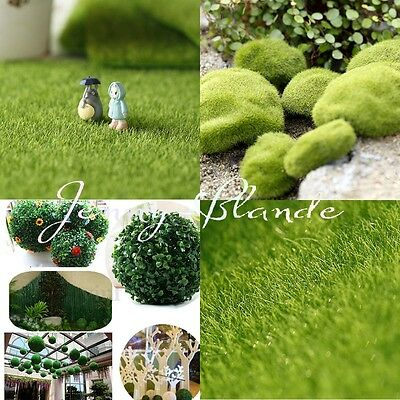 Dolls House Garden Decor Green Lawn Grass Carpet Dollhouse Moss for Miniature