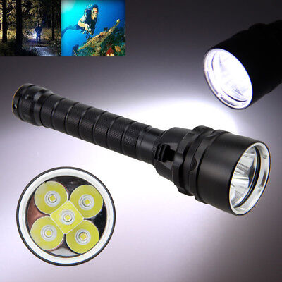 20000Lm Diving Underwater 100m XM-L T6 LED Scuba Flashlight Torch Survival Lamp