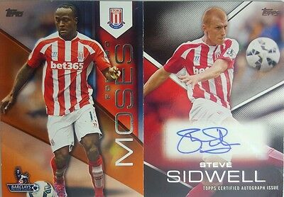 TOPPS GOLD 2015 PREMIER AUTOGRAPH Card STEVE SIDWELL + Orange Parallel 1 / 11