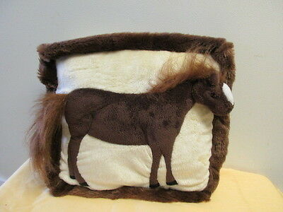 Brown Horse Plush Pillow