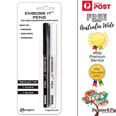 Ranger Emboss It Pens - 2 Pack - Black & Clear - Embossing Ink